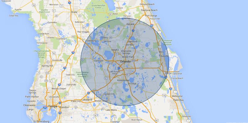 Orlando Pressure Washing Service Area