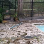 Pool Deck Cleaning Before
